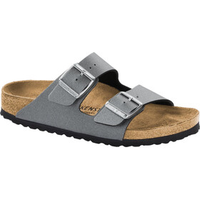 Birkenstock Arizona Sandalen Birko-Flor Damen icy metallic anthracite